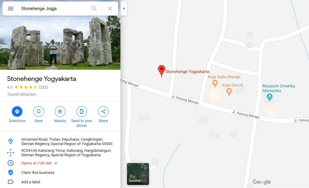 Lokasi Stonehenge Jogja